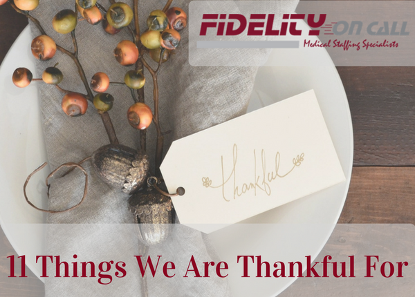11 Things We Are Thankful For