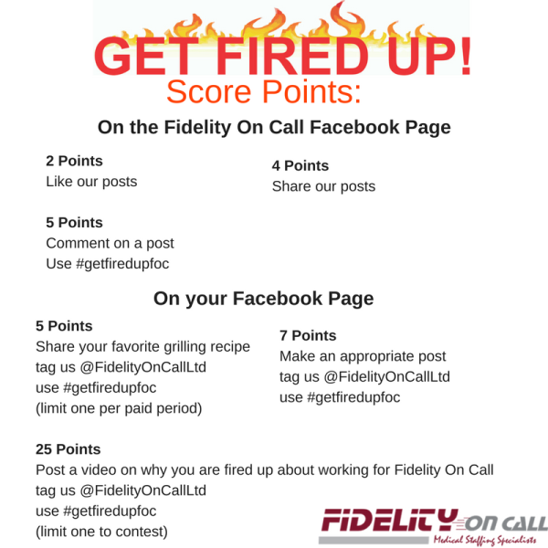 Get Fired Up Contest How to Score Points Reference