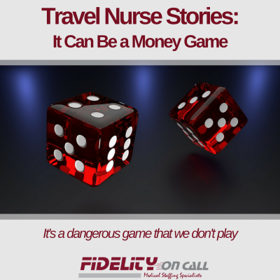Dice rolling image to go with blog post about how some recruiters play a money game