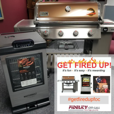 A picture of the grand prize for our Get Fired Up Contest which is a new Weber Genesis II Copper 4-Burner Liquid Propane Gas Grill