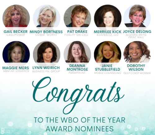 NAWBO women business owner Top 10 nominees
