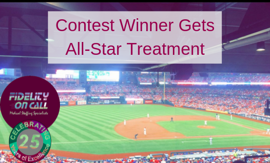 Picture of Busch Stadium Cubs Cards game September 28th with blog post title:Contest Winner Gets All Star Treament