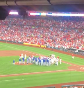 Huge brawl at the game!