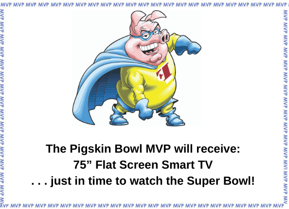 Fidelity On Call Pigskin Bowl winner gets a 75 inch flat screen smart tv